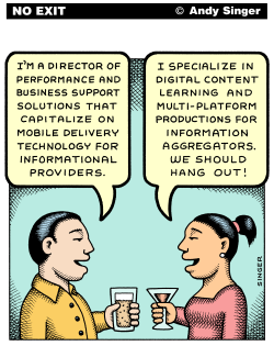 Contemporary Business Speak color version by Andy Singer
