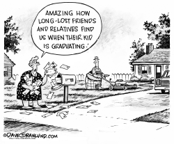 Grads and mailboxes by Dave Granlund