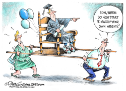 Graduates and parents   by Dave Granlund