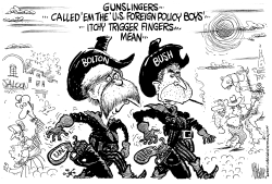 Bolton And Bush Gunslingers by Mike Lane