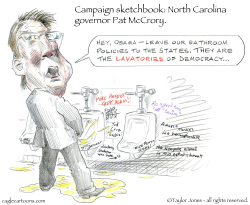 Campaign Sketchbook - Pat McCrory -  by Taylor Jones