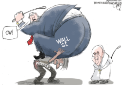 Pope and Capitalism  by Pat Bagley