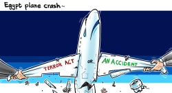 Egypt Plane crash by Emad Hajjaj