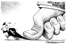 College grad debt  by Dave Granlund