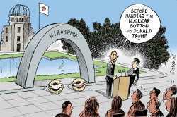 Obama in Hiroshima by Patrick Chappatte
