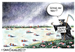 Grad party crasher  by Dave Granlund