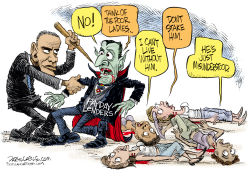 Obama and Payday Lenders  by Daryl Cagle