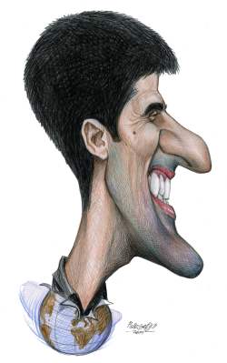 Novak Djokovic by Petar Pismestrovic