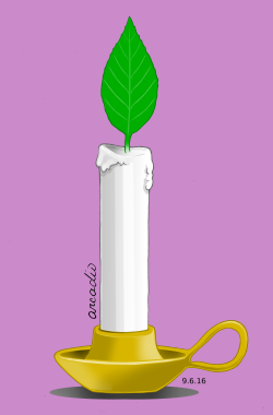 A candle for the planet / Una vela por el planeta by Arcadio Esquivel
