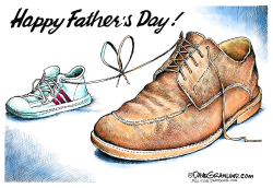 Fathers Day and shoes  by Dave Granlund