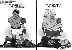 Muhammad Ali and Trump by Jeff Darcy