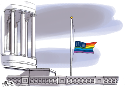 Gay Pride Flag Flies Over US Capitol by RJ Matson