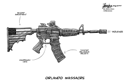 Love of guns vs humanity by Manny Francisco