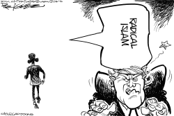 Trump Talking Point by Milt Priggee