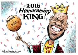Cavs NBA Champs 2016  by Dave Granlund