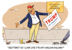 Trump Struggles To Raise Campaign Cash- by RJ Matson