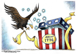 July 4th present  by Dave Granlund