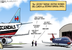 Tarmac Meeting  by Nate Beeler