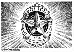 Dallas Officers Tribute by Dave Granlund