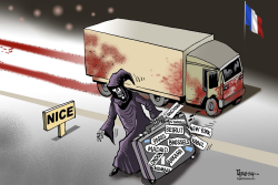 Terror in Nice by Paresh Nath
