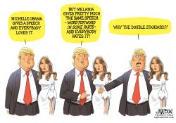 Donald Trump Questions Melania Plagiarism Charge- by RJ Matson