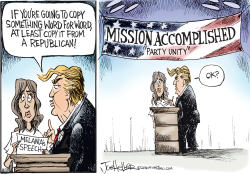 Trump Copying by Joe Heller