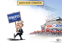 Kasich and the Convention  by Nate Beeler