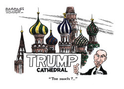 Putin and Trump color by Jimmy Margulies