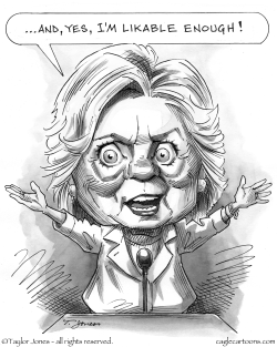 Hillary roars by Taylor Jones