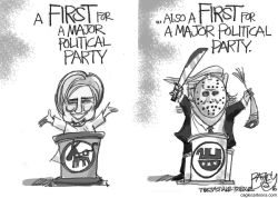 Campaign Firsts by Pat Bagley