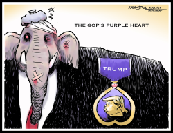 GOP Purple Trump Heart by J.D. Crowe