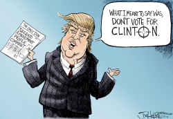 Trump's comments by Joe Heller