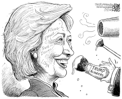 Hillary's flaws by Adam Zyglis