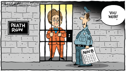 Hillary Wins  by Bob Englehart