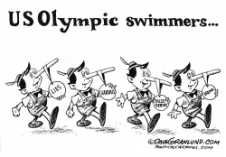 US Olympic swim scandal  by Dave Granlund