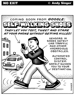 Self-Walking Shoes by Andy Singer