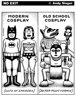 Modern Cosplay vs Old School Cosplay by Andy Singer