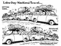 Labor Day weekend roads  by Dave Granlund