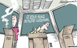 Guns on Campus  by Mike Keefe