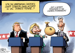 Debate Access  by Nate Beeler