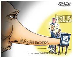 Russia hacks US election  by John Cole