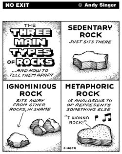 Three Rock Types by Andy Singer