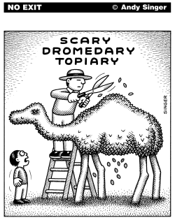 Scary Dromedary Topiary by Andy Singer