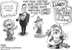 Sick Hillary by Pat Bagley