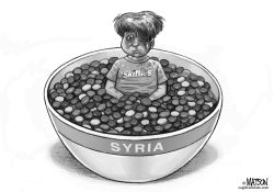 A Bowl of Skittles from Syria by RJ Matson