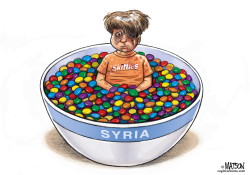 A Bowl of Skittles from Syria- by RJ Matson