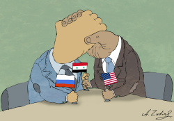 Syria, Rushia and US by Alexandr Zudin