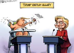 Hillary Rattled  by Nate Beeler