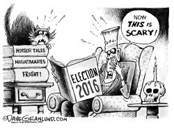 Election 2016 scary  by Dave Granlund
