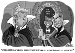 Trump Complains About Rigged Mirror by RJ Matson